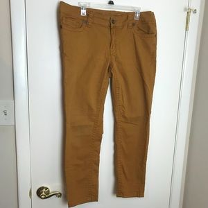 Seven7 Burnt Orange Rust Skinny Denim 14